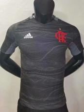 21-22 Flamengo Black Gray Goalkeeper Player Version soccer jersey