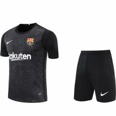 20-21 BAR Black Goalkeeper Soccer Jersey(Full Sets)