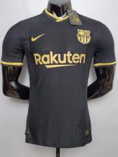 20-21 BAR Away Black Player Version Soccer Jersey