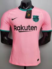 20-21 BAR Third  Pink Player Version Soccer Jersey