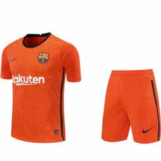 20-21 BAR Orange Goalkeeper Soccer Jersey(Full Sets)
