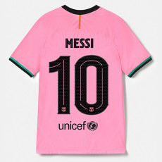 MESSI #10  BAR 1:1 Third Fans Soccer Jersey 2020/21 (UCL Fonts)
