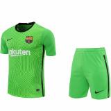 20-21 BAR Green Goalkeeper Soccer Jersey(Full Sets)