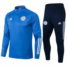 2021 Leicester City Blue Half Pull Sweater Tracksuit