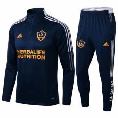 2021 LA Galaxy Royal blue Half Pull Sweater Tracksuit