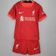 21-22  LIV Home Red Kids Soccer Jersey