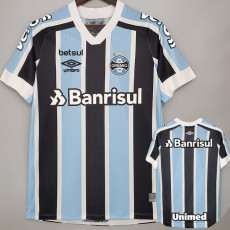 21-22 Gremio Home  ALL Sponsor Fans Soccer Jersey(全广告)