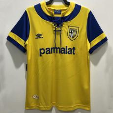 1993-1995 Parma Yellow Retro Soccer Jersey