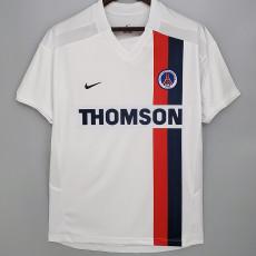 2002-2003 PSG Paris Away White Retro Soccer Jersey