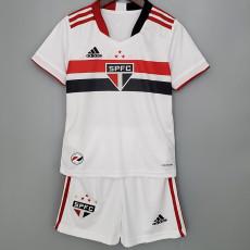 20-21 Sao Paulo Home Kids Soccer Jersey