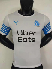 21-22 Marseille Home Player Version Soccer Jersey