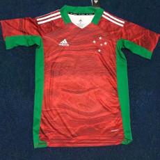 21-22 Cruzeiro Goalkeeper Red Soccer Jersey