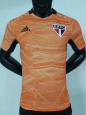 21-22 Sao Paulo Orange Goalkeeper Player Version Soccer Jersey