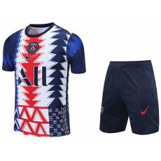2021 PSG White blue red Training Short Suit