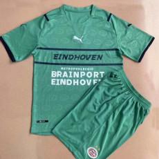 21-22 PSV Away Green Kids Soccer Jersey