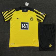 21-22 Dortmund Home Kids Soccer Jersey