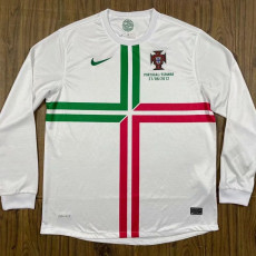 2012 Portugal Away Long Sleeve Retro Soccer Jersey  (胸前小字)