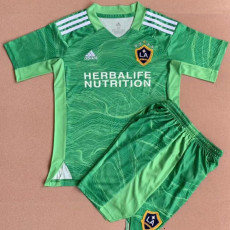 21-22 LA Galaxy Goalkeeper Green Kids Soccer Jersey 洛杉矶银河