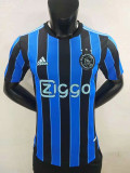 21-22 Ajax Away Player Version Soccer Jersey