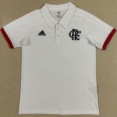 21-22 Flamengo White Polo Short Jersey