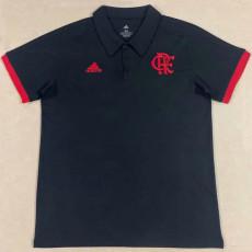 21-22 Flamengo Black Polo Short Jersey