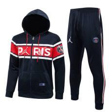 21-22 PSG Jordan Royal blue red Hoodie Jacket Tracksuit