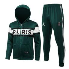 21-22 PSG Paris Jordan Green White Hoodie Jacket Tracksuit