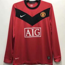 2010 Man Utd Home Long Sleeve Retro Soccer Jersey