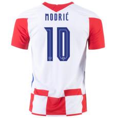 MODRIĆ # 10 Croatia 1:1 Home Fans Soccer Jersey 2020