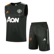 21-22 Man Utd  ArmyGreen Tank top and shorts suit