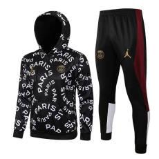 21-22 PSG Jordan Black Hoodie Jacket Tracksuit