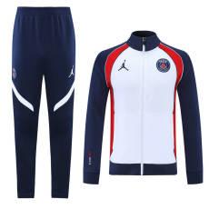 21-22 PSG Jordan white Jacket Tracksuit