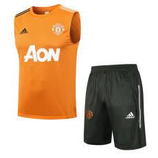 21-22 Man Utd Orange Tank top and shorts suit