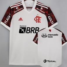 21-22 Flamengo Away ALL Sponsor Fans Soccer Jersey (全广告)