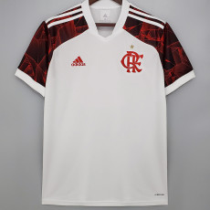 21-22 Flamengo Away White Fans Soccer Jersey