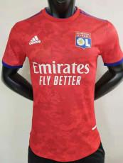21-22 Lyon Red Player Version Soccer Jersey