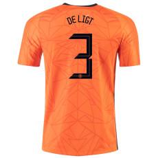 DE LIGT #3 Netherlands Home 1:1 Soccer Jersey 2020
