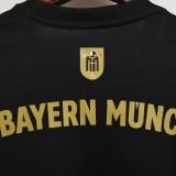21-22 Bayern Away Black Fans Soccer Jersey