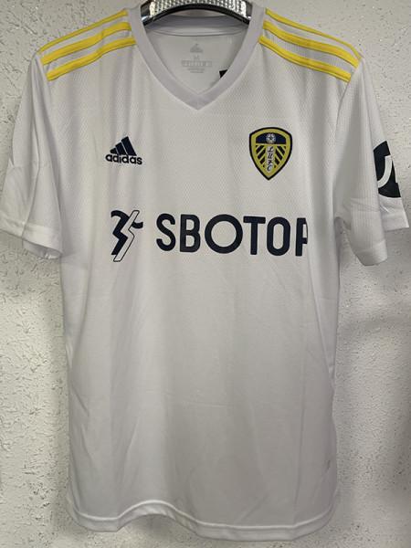 21-22 Leeds United Home Fans Soccer Jersey
