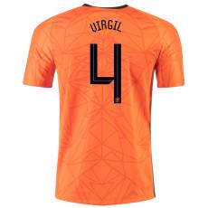 VIRGIL #4 Netherlands Home 1:1 Soccer Jersey 2020