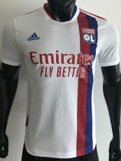 21-22 Lyon Home Player Version Soccer Jersey
