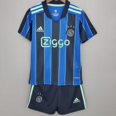 21-22 Ajax Away Kids Soccer Jersey