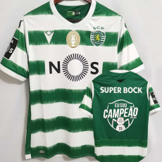 20-21 Sporting Lisbon Home Champion Edition Fans Soccer Jersey