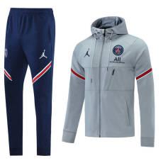 21-22 PSG Jordan Grey Hoodie Jacket Tracksuit