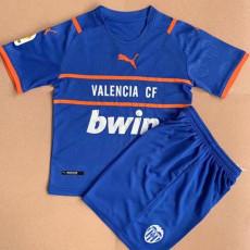 21-22 Valencia Blue Kids Soccer Jersey