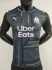 21-22 Marseille Player Version Black Goalkeeper Soccer Jersey