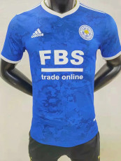 21-22 Leicester City Home Player Version Soccer Jersey