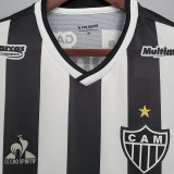 21-22  Atletico Mineiro (all Sponsors) Home Fans Soccer Jersey