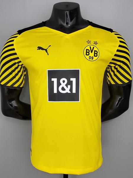 21-22 Dortmund Home Player Version Soccer Jersey