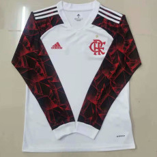 21-22 Flamengo Away Long Sleeve Soccer Jersey